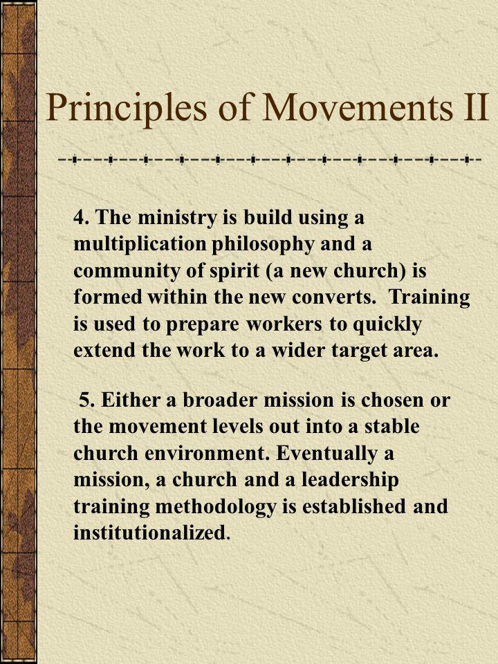 Principles of Movements II 4.
