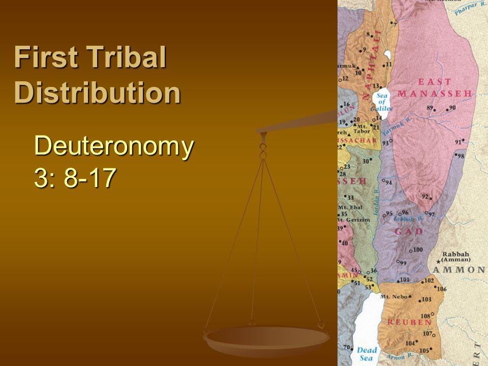 First Tribal Distribution Deuteronomy 3: 8-17