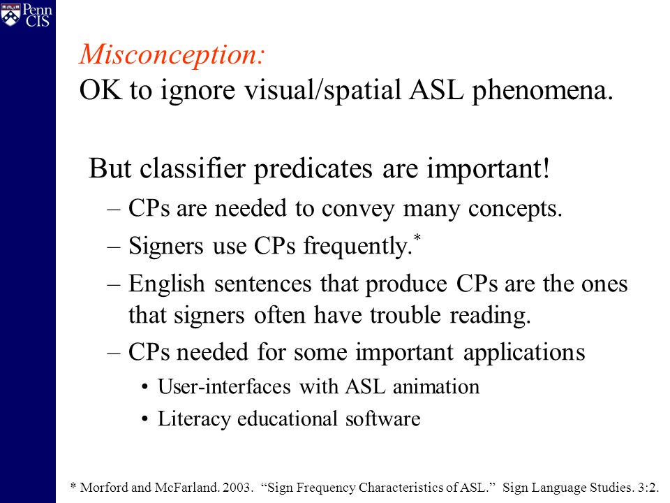 Producing Classifier Predicates A new set of generation models…