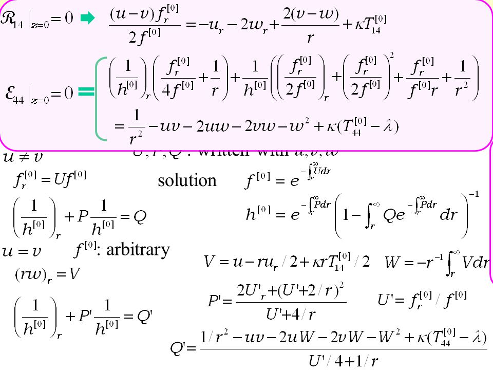 :arbitrary bulk Einstein eq. Nambu-Goto eq.  We haveif obey : written with solution