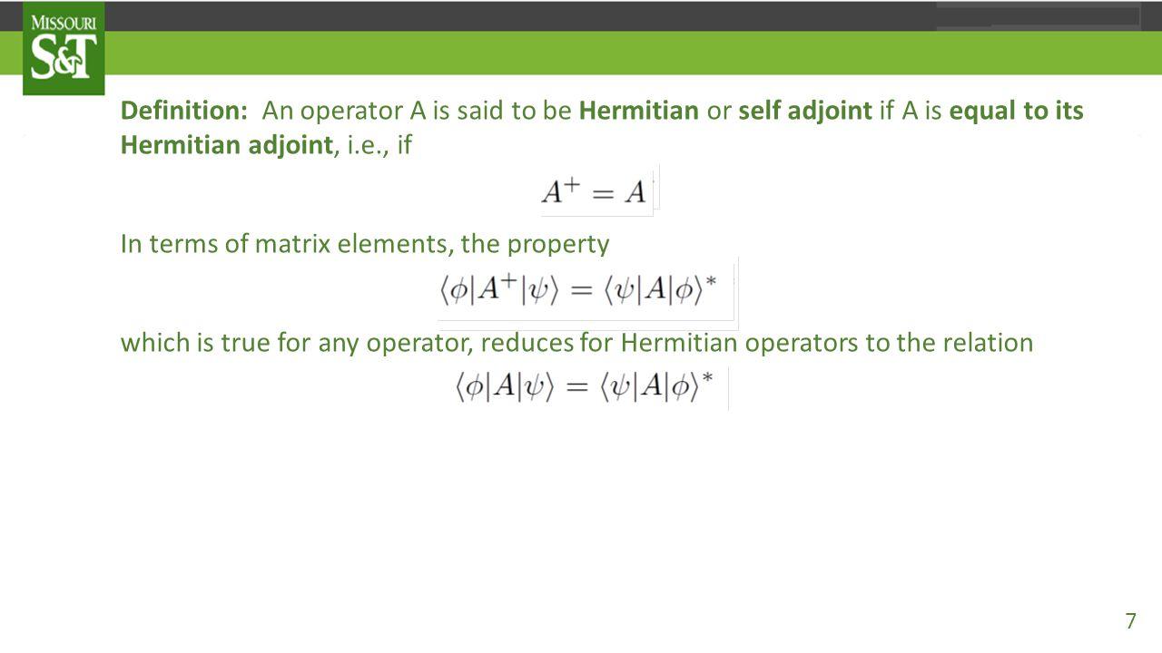 Ket-Bra and Matrix Representation of Operators 38