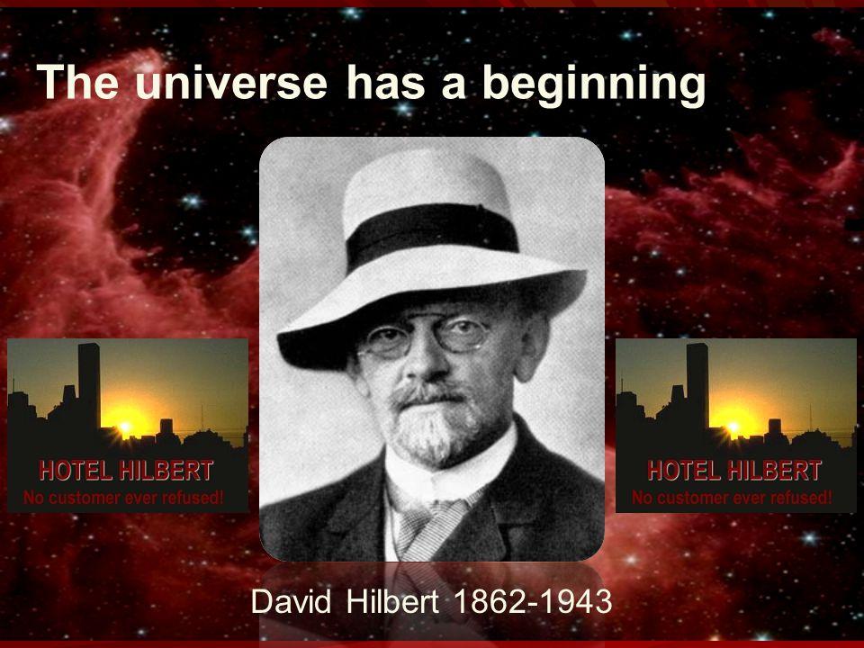 The universe has a beginning David Hilbert 1862-1943