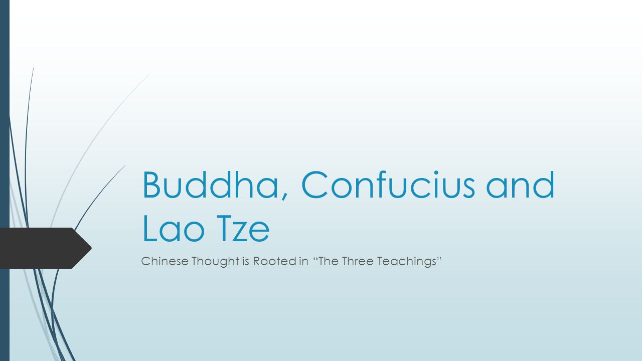 Buddha, Confucius and Lao Tze Chinese Thought is Rooted in The Three Teachings