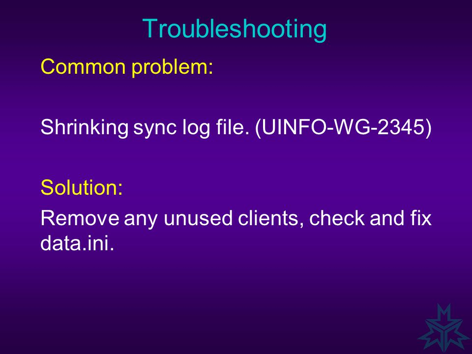 Troubleshooting Basic Process: 7.Check the Technical Notes on Admineng (TN4310) and Commence Internal Status (TN3312) errors. It's a learning process.