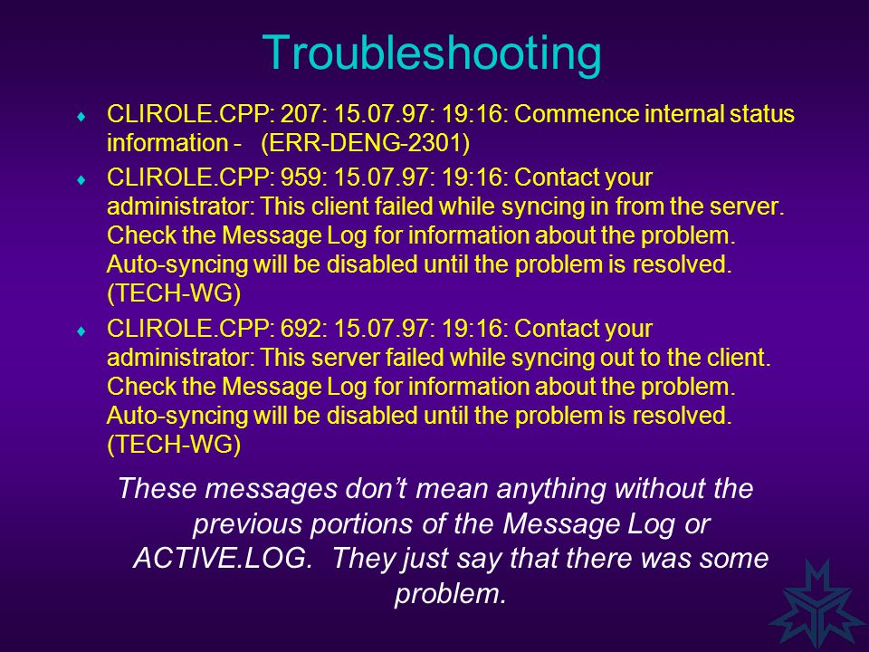 Troublshooting [Workgroup] Enable=4 SyncValid=1 2 3 4 Backup1=user1;0X6501;34567;456;1 Backup2=user1;0X6601;0;0;1 Backup3=user1;0X6701;34500;234;1 Bac