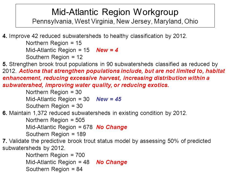 Mid-Atlantic Region Workgroup Pennsylvania, West Virginia, New Jersey, Maryland, Ohio 4.