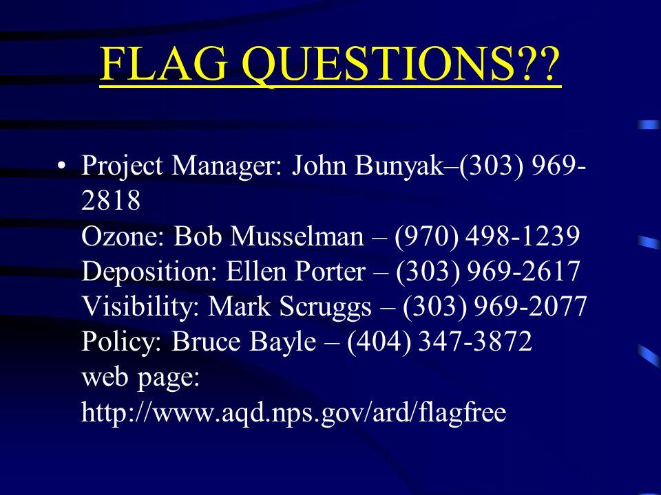 FLAG QUESTIONS .