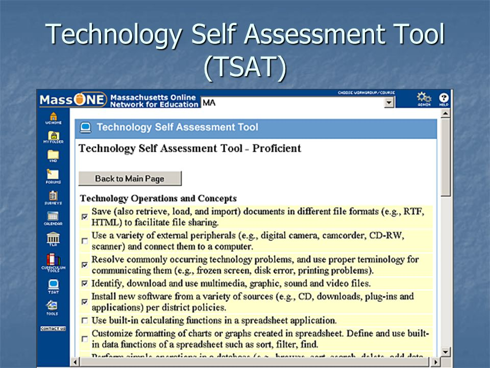 Technology Self Assessment Tool (TSAT)