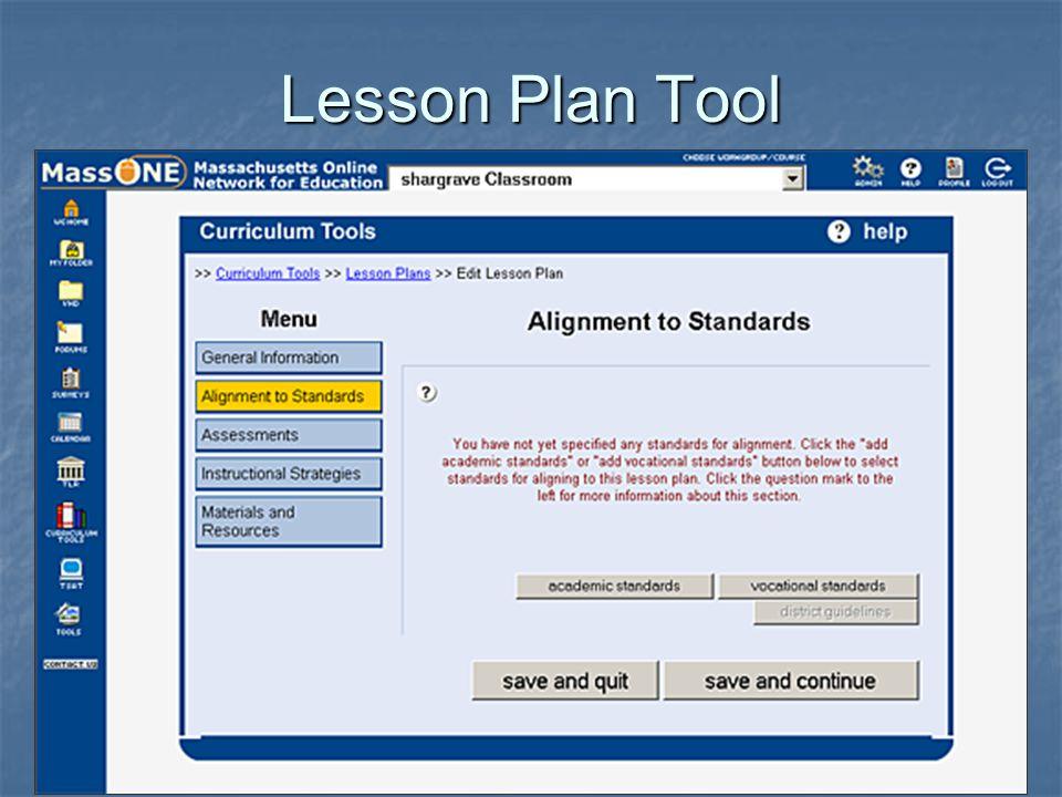 Lesson Plan Tool