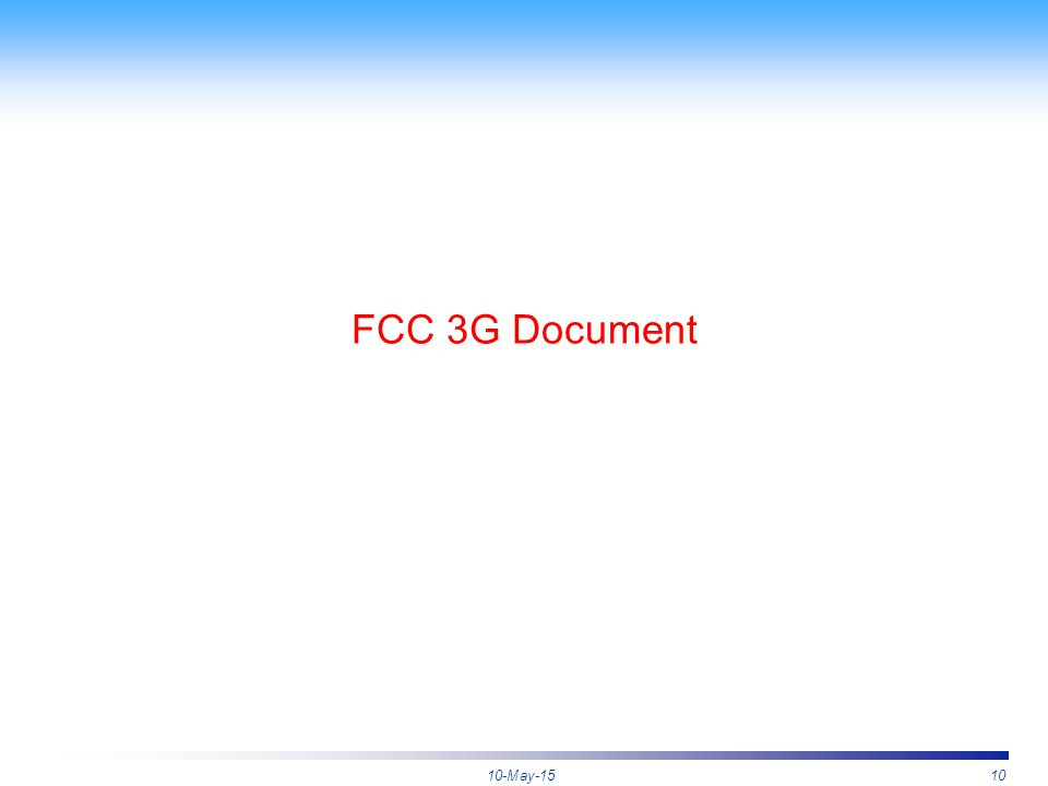 10-May-1510 FCC 3G Document