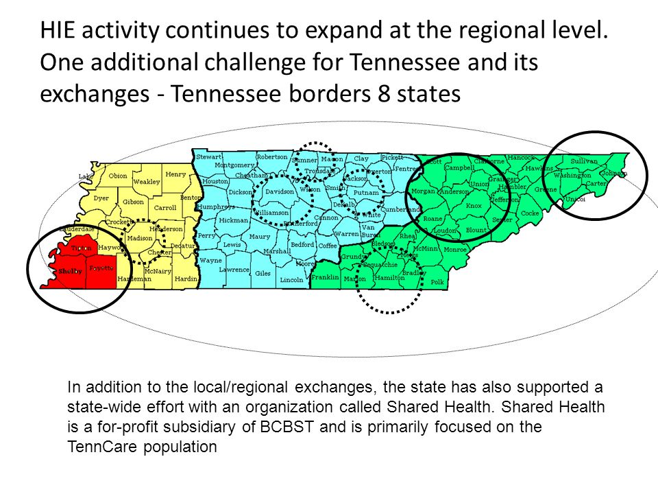 HIE activity continues to expand at the regional level.