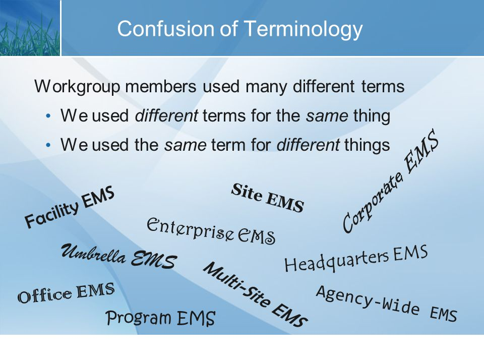 The EMS Typology FacilityMulti-Site Organization Higher-Tier