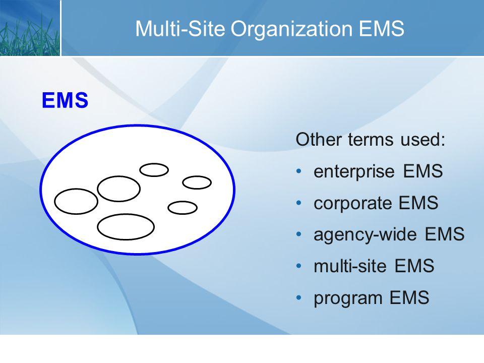 Higher-Tier EMS HIGHER-TIER EMS EMS Other terms used: umbrella EMS corporate EMS agency-wide EMS headquarters EMS program EMS