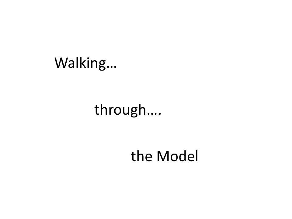 Walking… through…. the Model