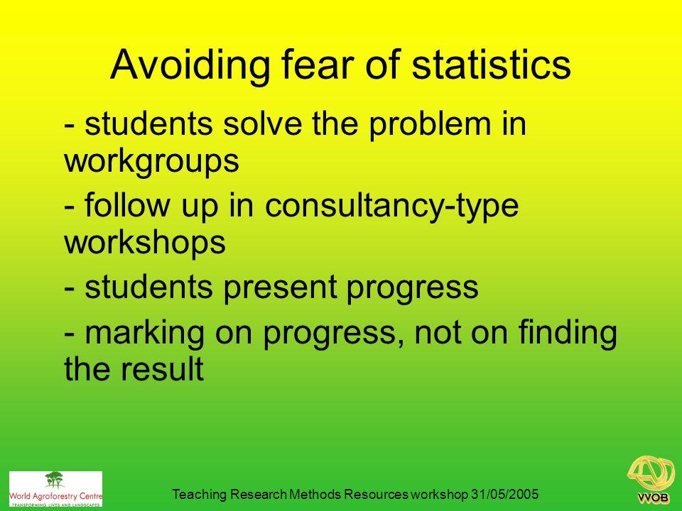 Avoiding fear of statistics 2.