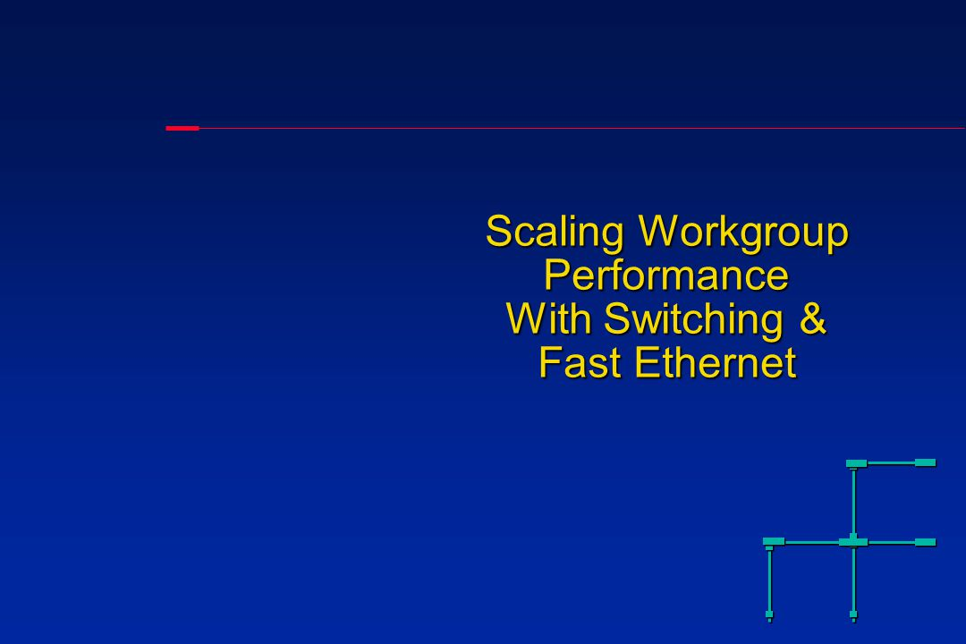 Agenda The need for speedThe need for speed Scaling workgroup performanceScaling workgroup performance Bandwidth performance: the factsBandwidth performance: the facts Peak bandwith versus aggregate bandwidthPeak bandwith versus aggregate bandwidth Example of applicationsExample of applications