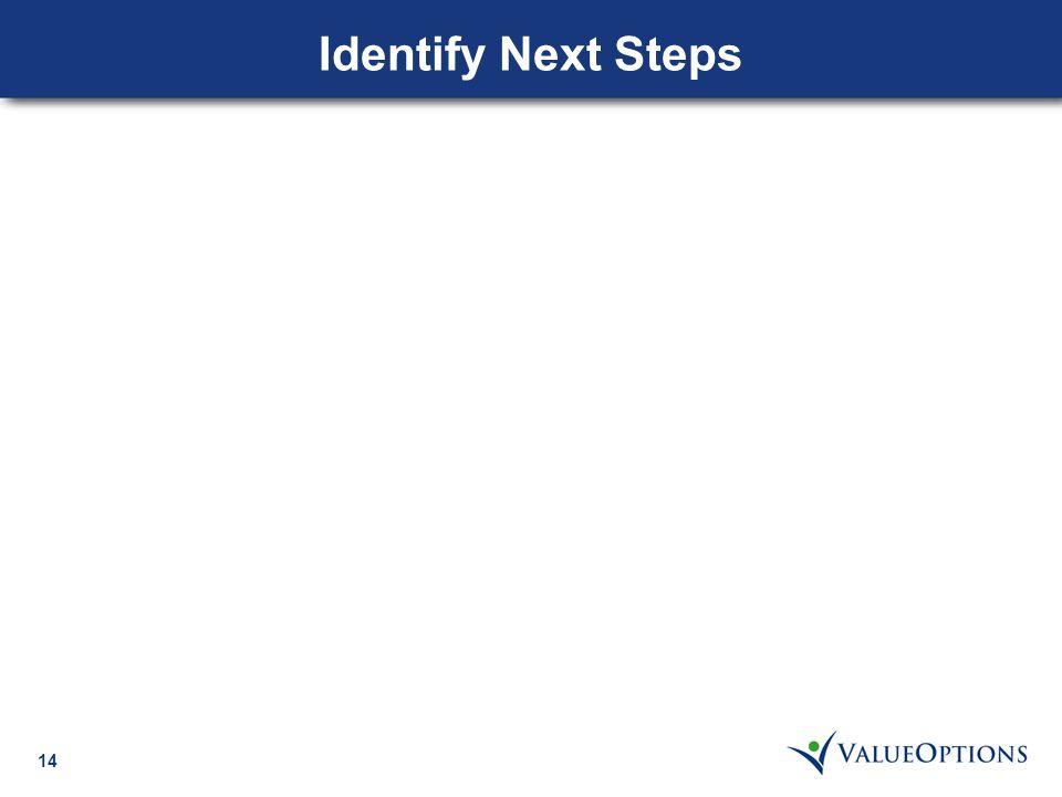 14 Identify Next Steps