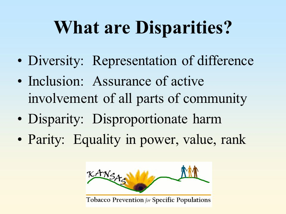 What are Disparities.