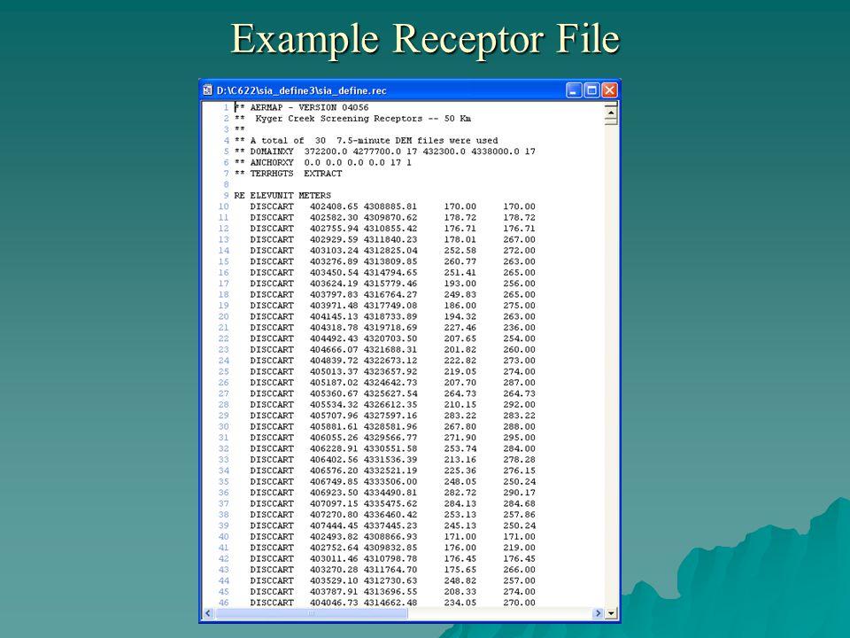 Example Receptor File