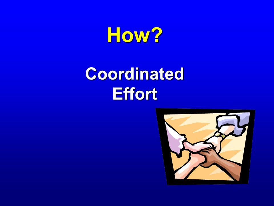 How Coordinated Effort