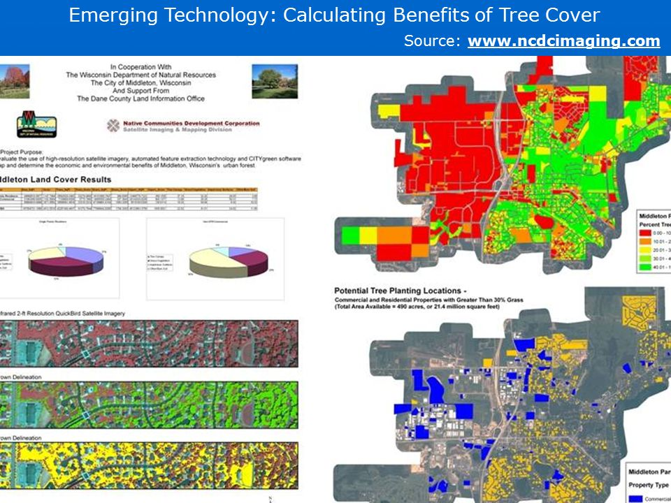 Emerging Technology: Calculating Benefits of Tree Cover Source: www.ncdcimaging.com