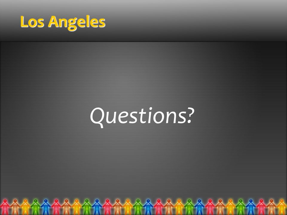 Los Angeles Questions