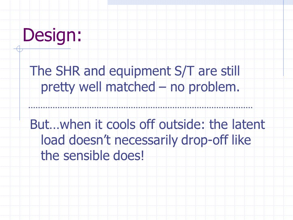 Design: The SHR and equipment S/T are still pretty well matched – no problem.