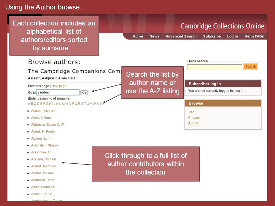 Click through to a full list of author contributors within the collection Click through to a full list of author contributors within the collection Ea