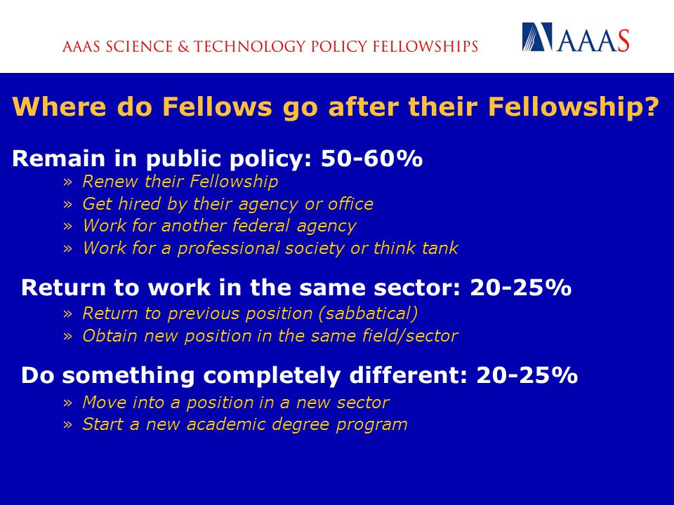 Where do Fellows go after their Fellowship.