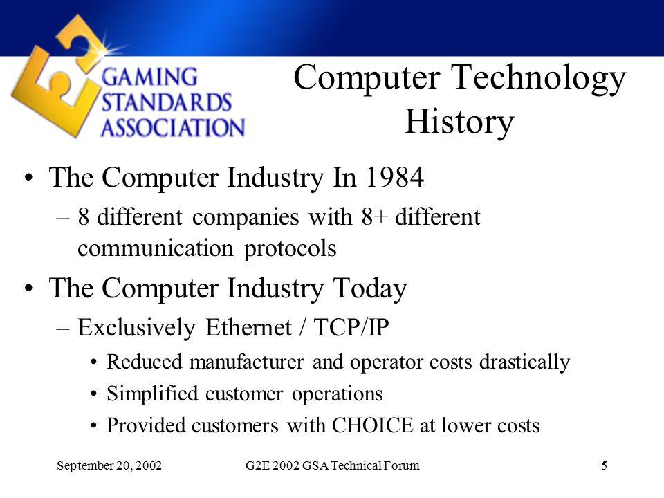 September 20, 2002G2E 2002 GSA Technical Forum16 Thank You!