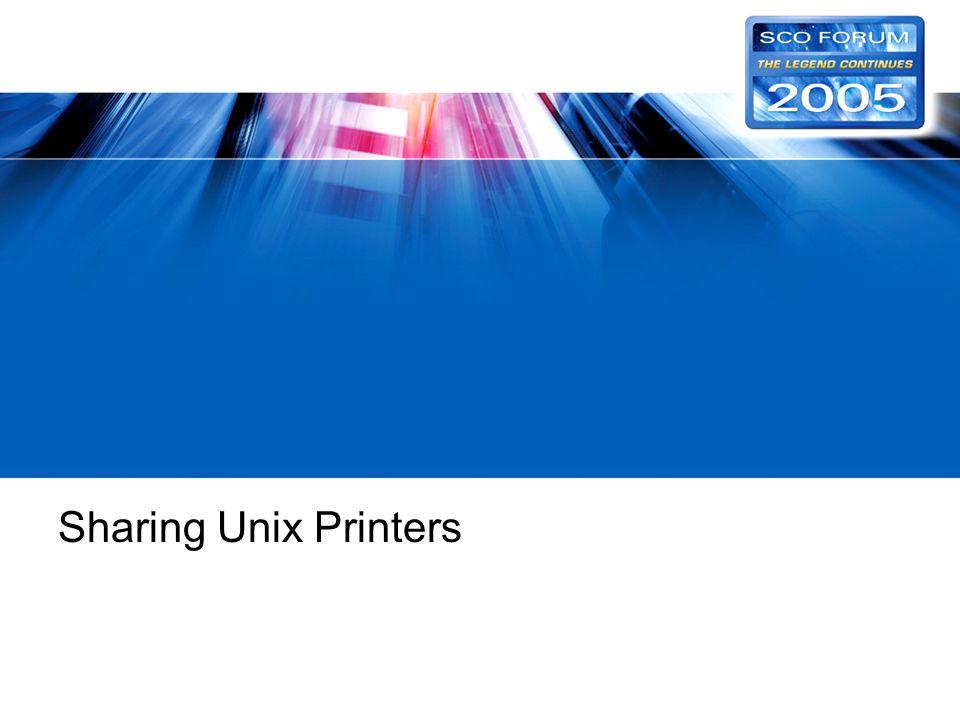 Sharing Unix Printers