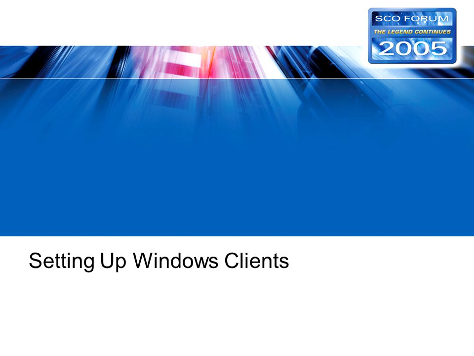 Setting Up Windows Clients