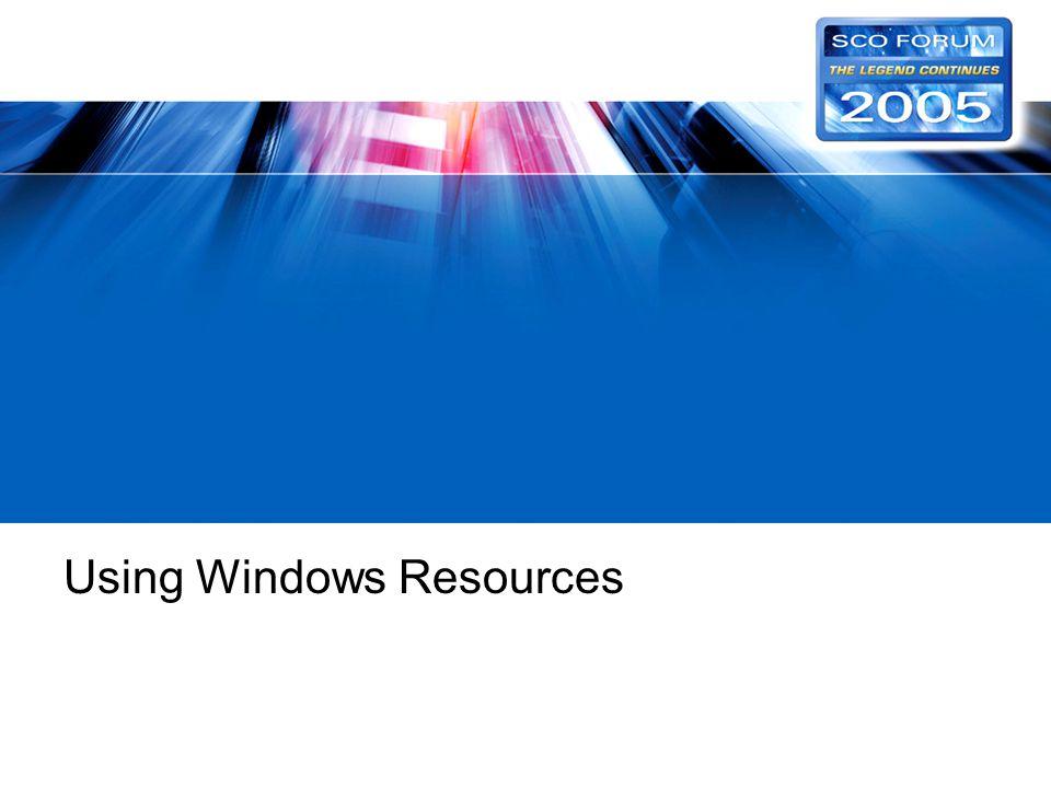 Using Windows Resources