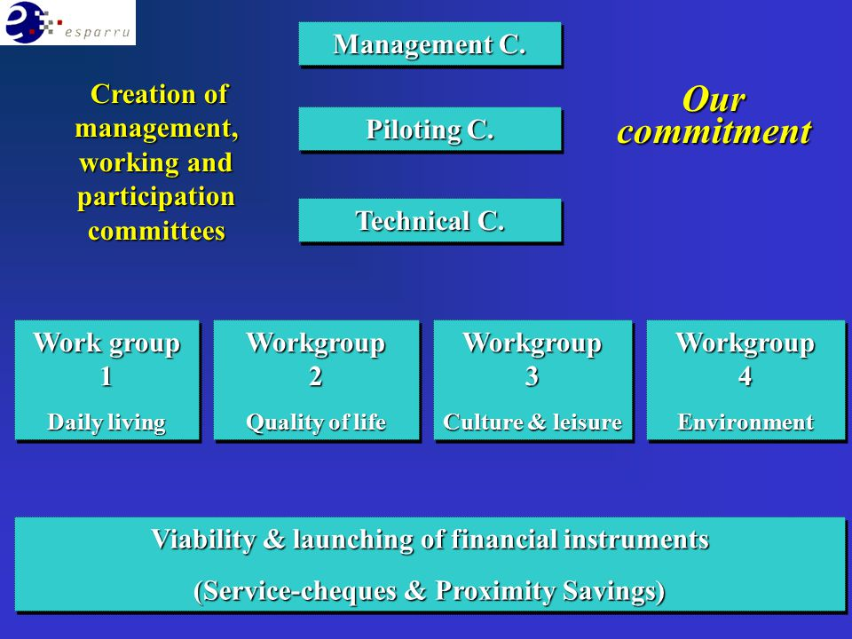 Management C. Piloting C. Technical C. Work group 1 Daily living Work group 1 Daily living Workgroup 2 Quality of life Workgroup 2 Quality of life Wor