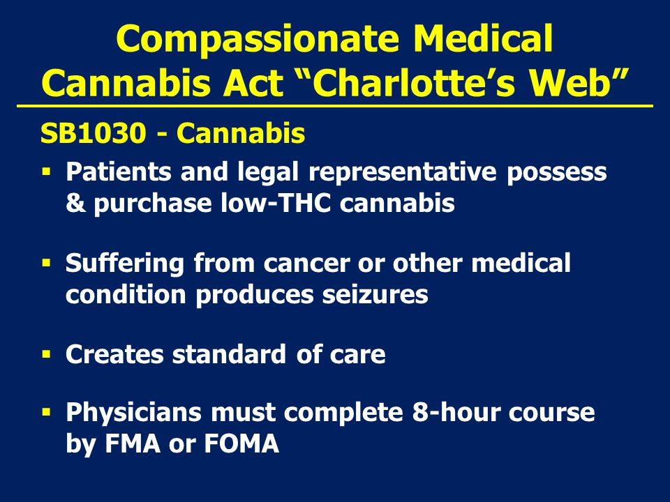 Presentation Outline  Update on Compassionate Use of Medical Marijuana Act  Review of Constitutional Amendment  Staff Workgroup  Zoning Ordinance  Human Resources Issues  Next Steps