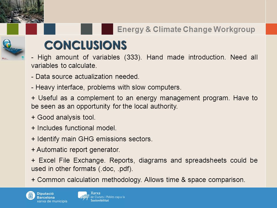 Energy & Climate Change Workgroup CONCLUSIONS - High amount of variables (333).