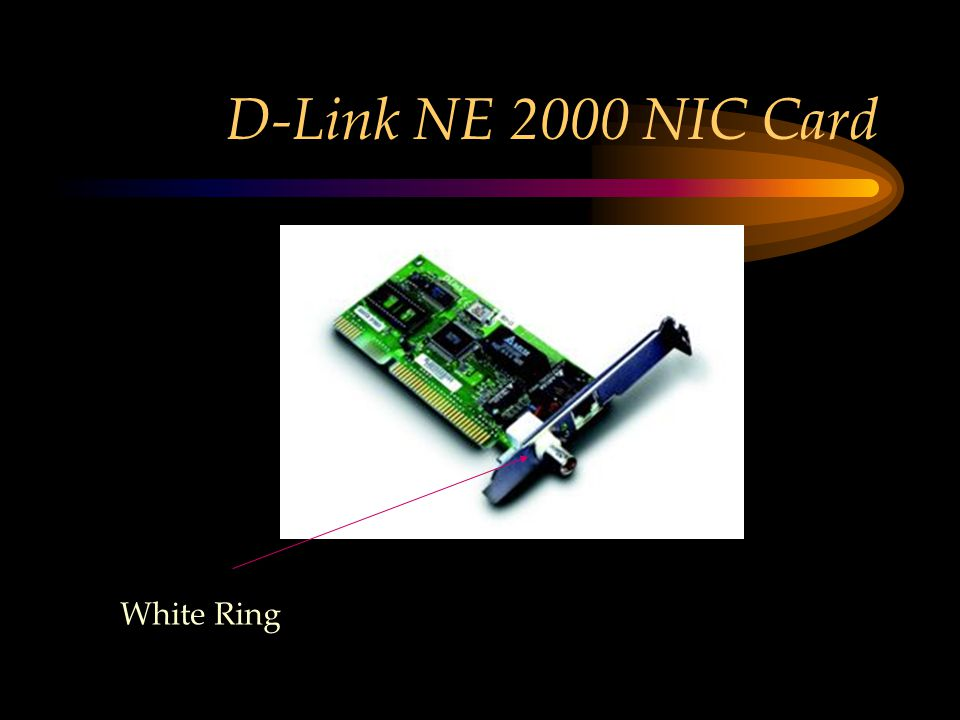 D-Link NE 2000 NIC Card White Ring