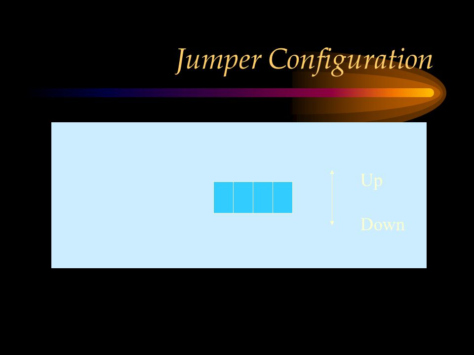Jumper Configuration Up Down