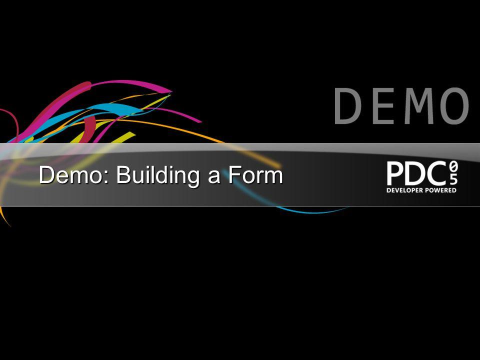 Demo: Building a Form