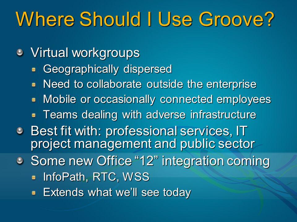 Where Should I Use Groove.