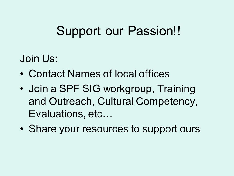Support our Passion!.