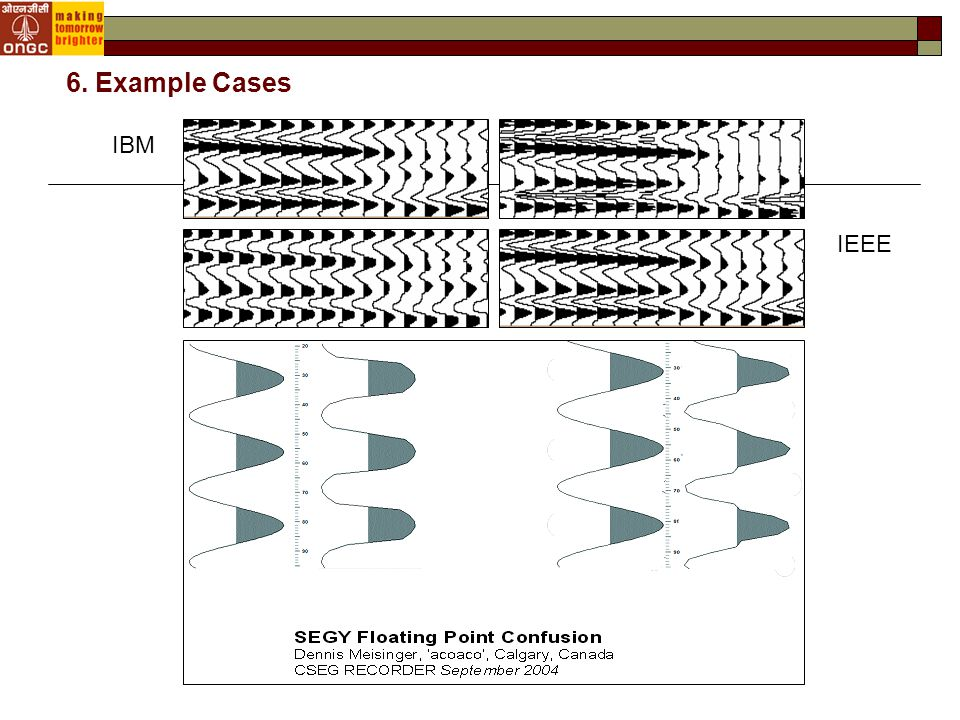 IBM IEEE 6. Example Cases