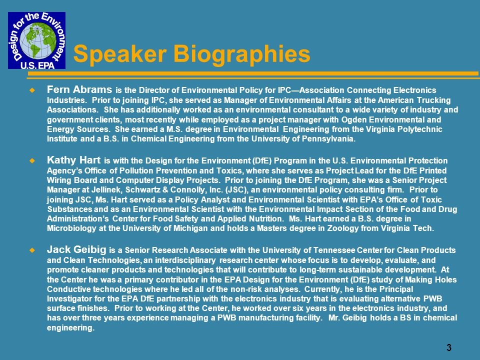 4 Speaker Biographies u Rupy Sawhney is an Assistant Professor of Industrial Engineering at the University of Tennessee, and the Director of the Lean Production Laboratory.