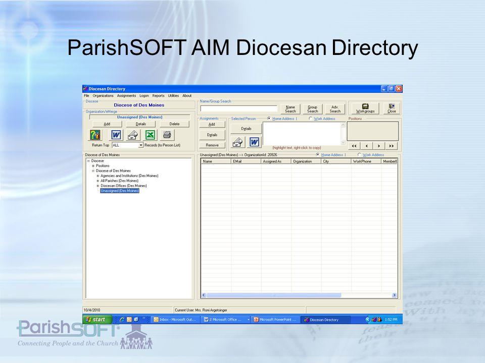 ParishSOFT AIM Diocesan Directory