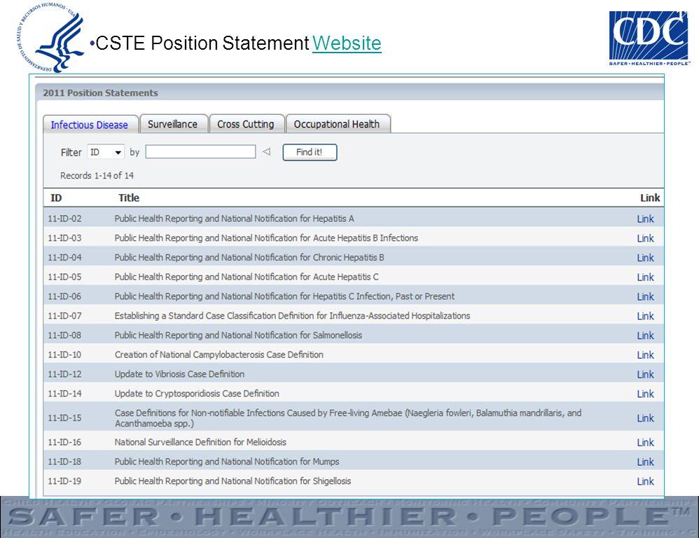 11 CSTE Position Statement WebsiteWebsite