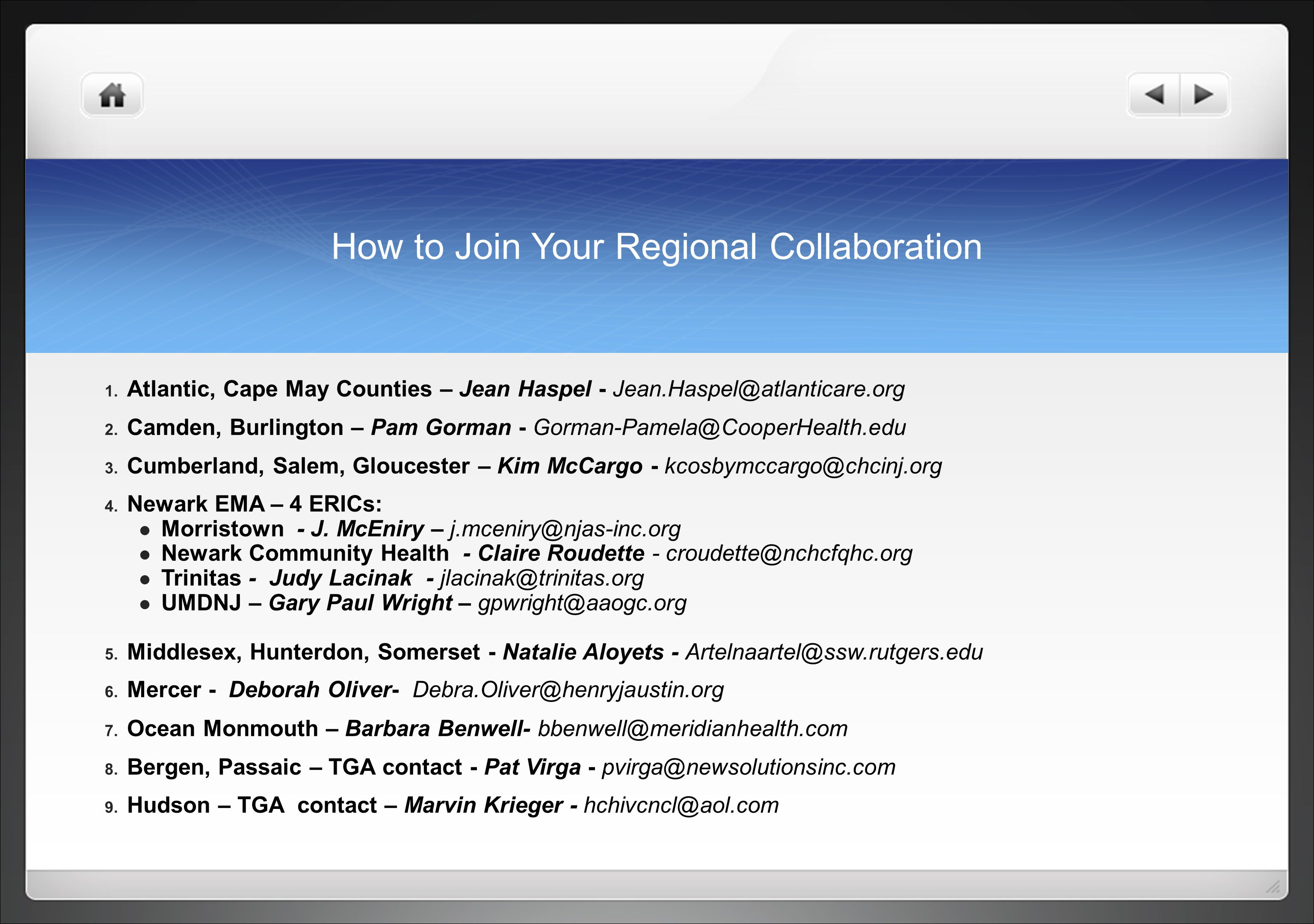 How to Join Your Regional Collaboration 1.