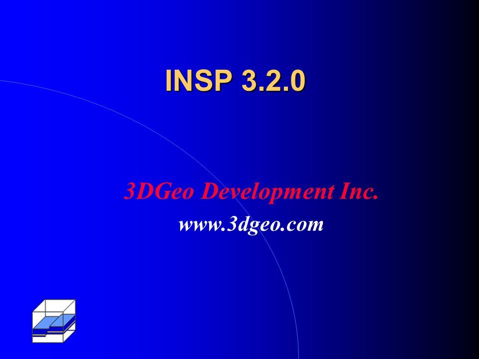 INSP 3.2.0 3DGeo Development Inc. www.3dgeo.com