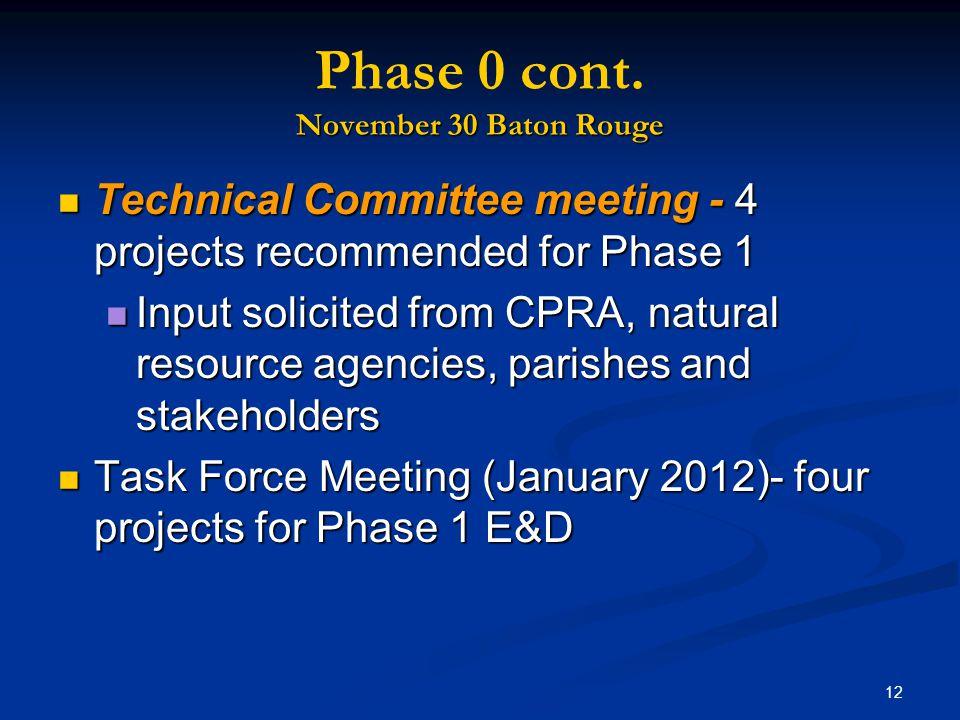12 November 30 Baton Rouge Phase 0 cont.