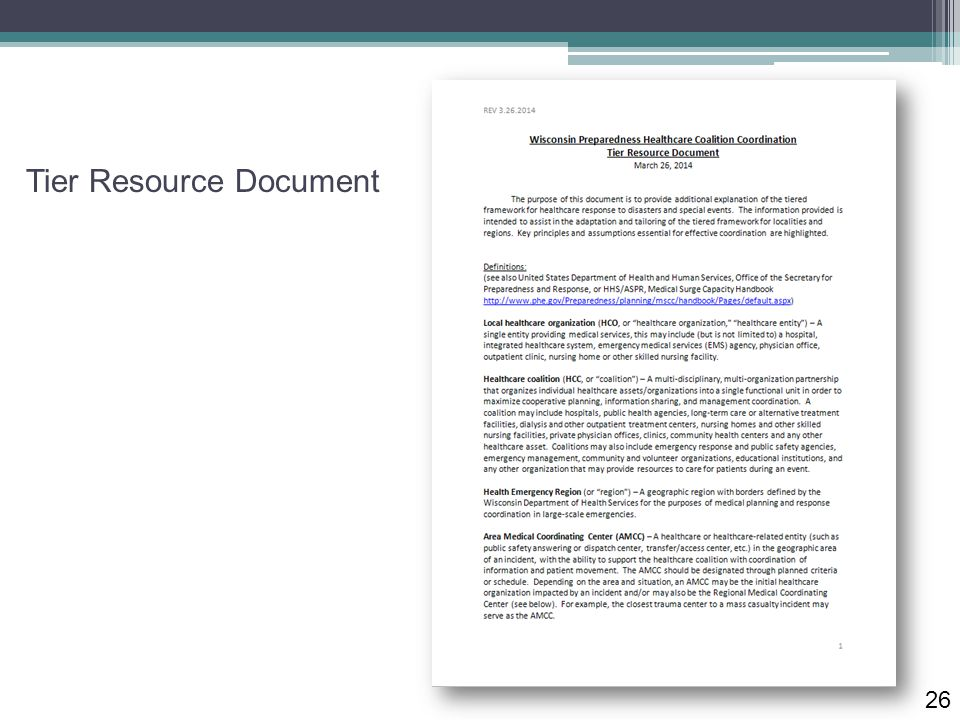 Tier Resource Document 26