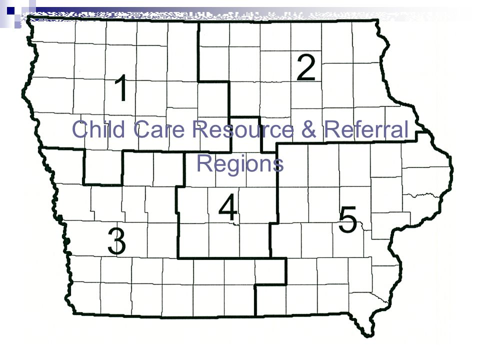 Child Care Resource & Referral Regions